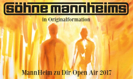2 Tickets für die Söhne Mannheims am 30.08.2017 in Oberhausen oder am 31.08.2017 in Mönchengladbach (50% sparen)
