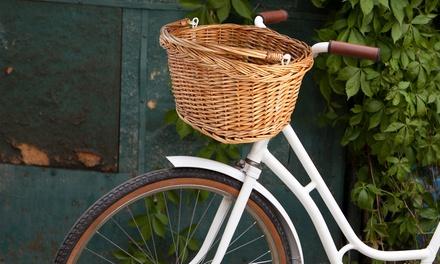 Fahrradkorb zum Einkaufen im zeitlosen Natur-Look (7% sparen*)