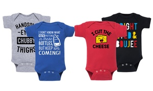 Humorous Printed One-Piece Infant Bodysuit
