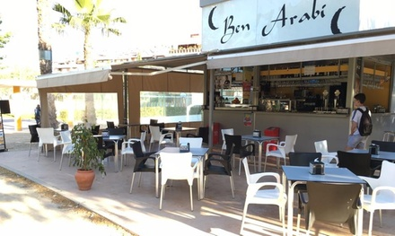 Menú para 2 o 4 con entrante, arroz caldero, postre, botella de vino o bebidas y copa desde 19,95 € en Kiosco Ben Arabi