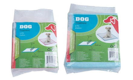 Puppy Training Pads: Ten Small for £3.98 or Six Large for £2.99