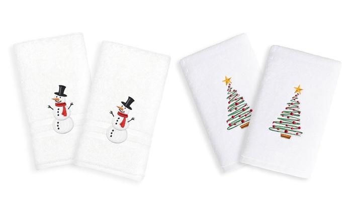 Up To 24 Off On Linum Hand Towel Set 2 Piece Groupon Goods
