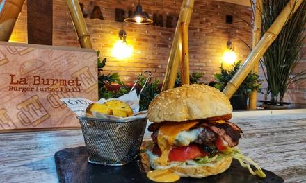Menú de burgers gourmet o exóticas para 2 o 4 con entrante y bebida en La Burmet (hasta 46% de descuento)