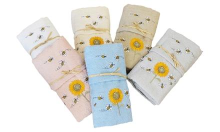 1 o 2 Set asciugamani di spugna bagno Made in Italy disponibili in vari colori