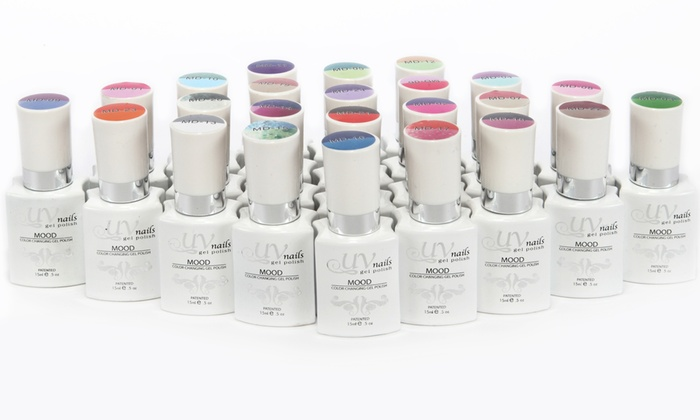 UV Nails Mood-Changing Gel Nail Polish; 15ml (6-Pack)