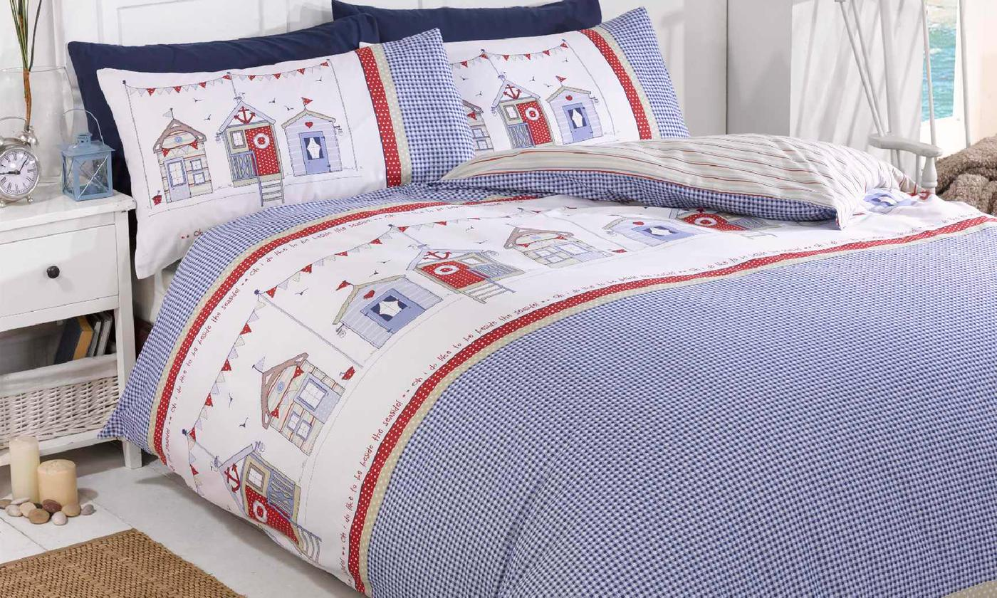 Rapport Home Beach Hut Easy Care Duvet Set