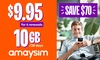 amaysim: 4 x 10GB 28-Day Renewals
