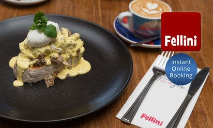 Breakfast and Coffee or Juice for One ($12), Two ($21) or Four People ($37) at Cafe Fellini (Up to $97.60 Value)