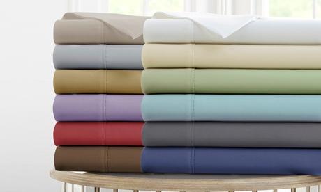 Deep-Pocket Solid-Color Sheet Set
