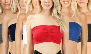 b34bfac4f Women s Bandeau With Built-In Bra (6-Pack). Plus Sizes Available