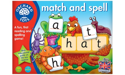 Orchard Toys Match and Spell Board Game for £6.98
