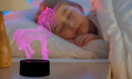 One or Two ColourChanging 3D Unicorn Night Lights