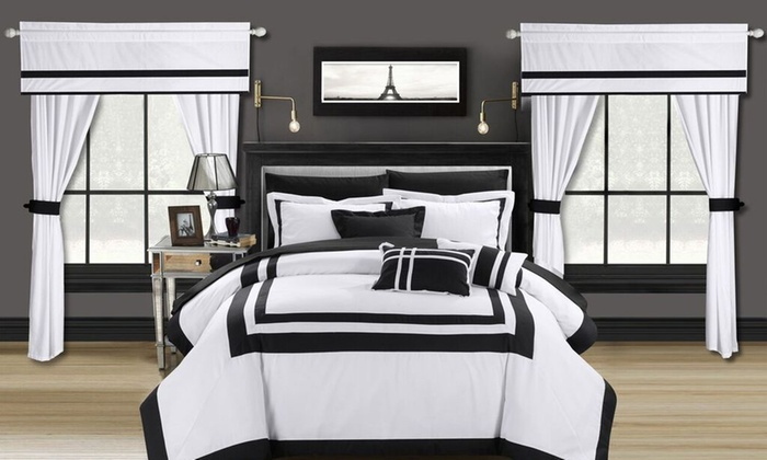 Chic Home Comforter Set With Window Panels (20 Piece): Chic Home Comforter  ...