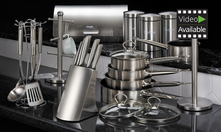 Cooks professional kitchen set groupon goods for Kitchen set groupon