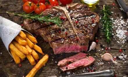 Rump Steak Meal with a Glass of Wine for Up to Four at The Hayloft