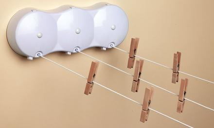 Tendedero extensible de 3 cuerdas