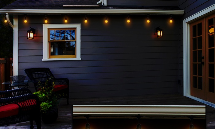 Outdoor edison string lights groupon goods for Outdoor lighting concepts