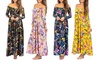 Women's Tropical Off-Shoulder Maxi Dress