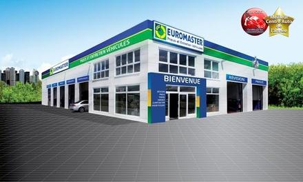 Bon d'achat de 80 € pour votre voiture valable dans plus de 320 centres Euromaster participants ou en ligne pour 40 €