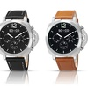 SO & CO Men's Multifunction Leather-Strap Watch