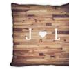 Custom Microfiber Woodgrain Initial Pillows from Collage.com