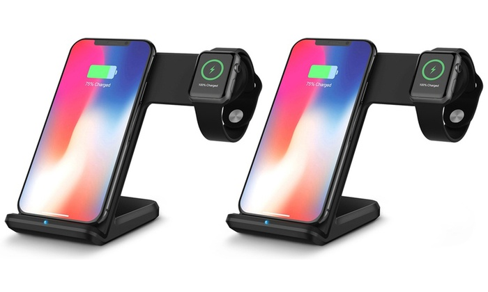 One or Two 2 in 1 Wireless Charger Stand Phone Holders