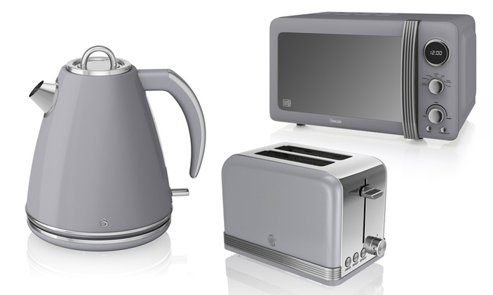Swan Lime Green Kettle And Toaster Set Image Sink