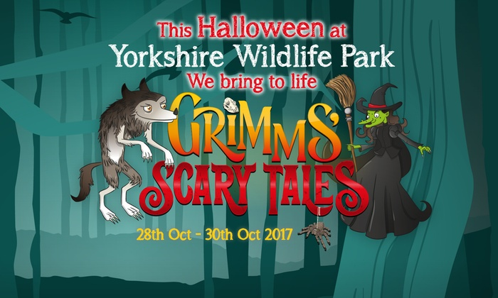 Scary Tales: Halloween Safari Experience on 28 - 30 October at Yorkshire Wildlife Park - Last few! (Up to 50% Off)