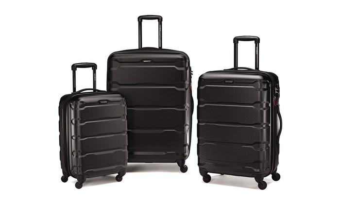 Samsonite Omni Polycarbonate Hardside Spinner Luggage Set (3-Piece ...