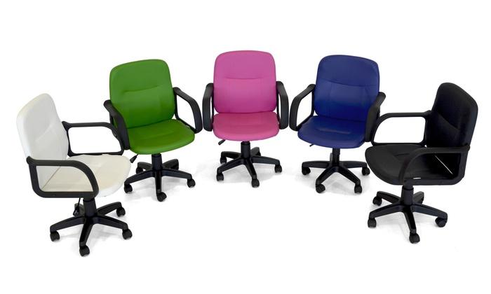 Simple groupon goods global gmbh poltrona da ufficio simply disponibile in modelli e vari colori - Poltrone ufficio ikea ...