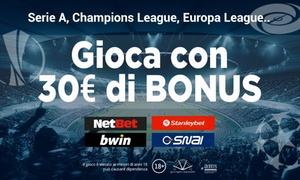 Superscommesse - Bonus scommesse sportive: Superscommesse.it: 30€ di Bonus sui migliori Bookmaker per Serie A, Champions ed Europa League