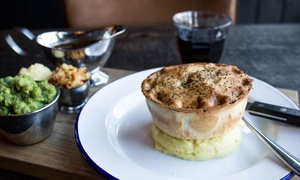 Pieminister's Restaurant in Nottingham: Pieminister Pie With Mash, Mushy Peas & Gravy with Beer or Wine at Pieminister, Nottingham (43% Off)