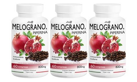 Fino a 360 compresse di Melograno e Piperina Lineadiet drenante, antiossidante e bruciagrassi