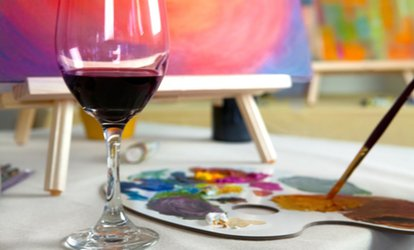 image for Painting Experience with Refreshments for One, Two or Four at Vine & Canvas (Up to 62% Off)