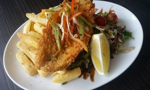 Harbourside Fish Market: Seafood Platter with Salad and Drinks for Two ($29) or Four ($55) at Harbourside Fish Market (Up to $100.80 Value)