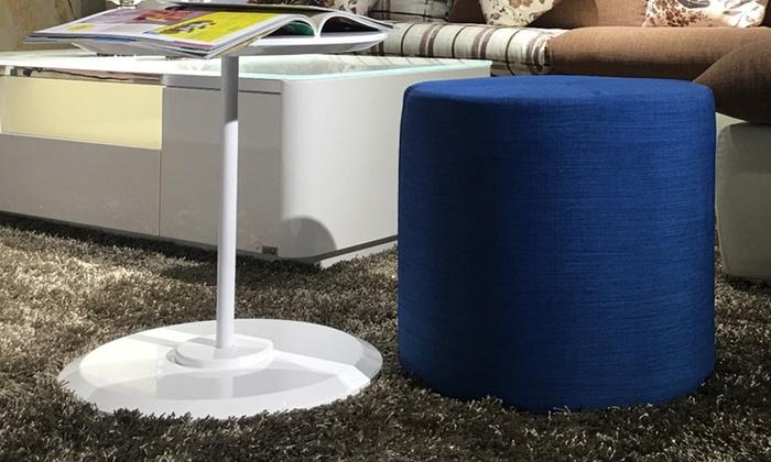 Pouf Con Tavolino.Set Tavolino Con Pouf Incorporato Happy Blu
