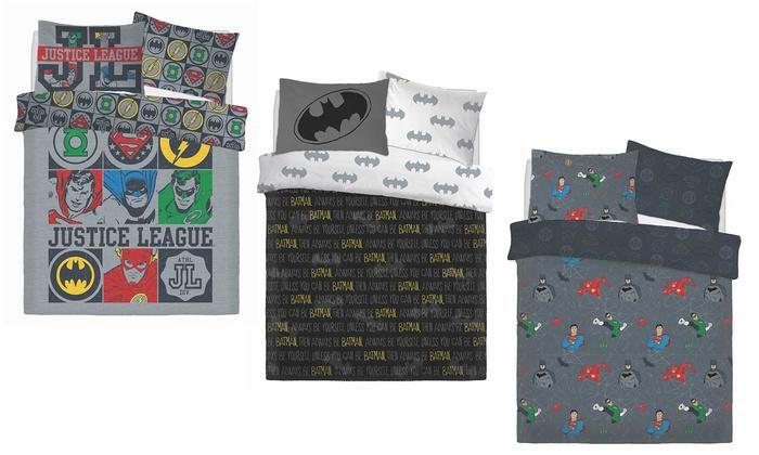 Warner Bros Batman or Justice League Duvet Sets from £14