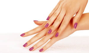 Inspired Hair Studio: One or Two Shellac Manicures or a Shellac Manicure with Spa Pedicure at Inspired Hair Studio (Up to 55% Off)