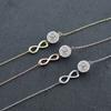 Infinity Bracelet Made with Swarovski Elements Crystals