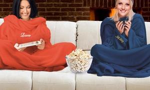 FOTICOS SL: Kuschelige Decke mit Ärmeln und personalisierter Stickerei von FotoDecke Blanket (bis zu 62% sparen*)