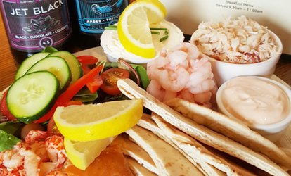 image for Seafood Platter with Tea, Craft Beer or Bottle of Prosecco for Two at W. Hamond Tea Rooms (Up to 47% Off)