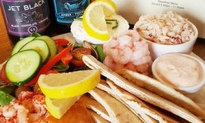 W. Hamond Tea Rooms: Seafood Platter with Tea, Craft Beer or Bottle of Prosecco for Two at W. Hamond Tea Rooms (Up to 47% Off)
