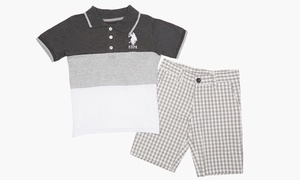 US Polo Assn Infant and Toddler Polo and Shorts Sets (2T, 3T, 4T)
