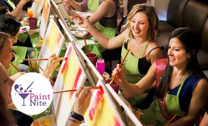 image for The Original Paint Nite at Local Bars (Up to 37% Off)