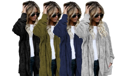 Women's Soft Fleece Hooded Cardigan: One ($19.95) or Two ($34)