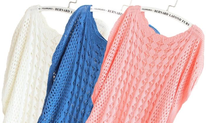 1 ou 2 pulls tricots crochet femme coloris au choix dès 1699€ (jusquà 90% de rduction) livraison offerte