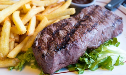 Steak with a Choice of Side and Soft Drink for Two or Four at Steakz by Ibrahims