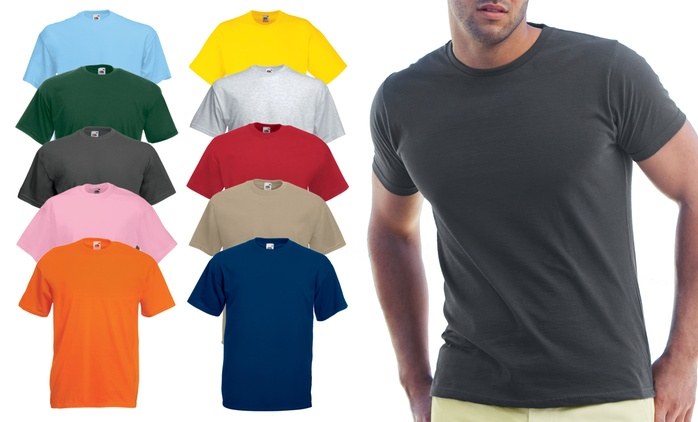 Five- (£10) or Ten-Pack (£18.98)of Men's Fruit of the Loom T-Shirts