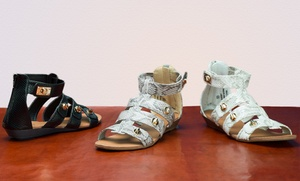 Bucco Aubrey Snakeskin Gladiator Sandals. Multiple Colors & Sizes Available.