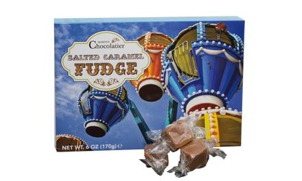 Tot 3 dozen met 170 gr. gezouten karamel fudge van Martins Chocolatier
